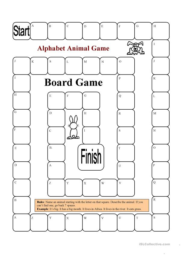 Board Game - Animals