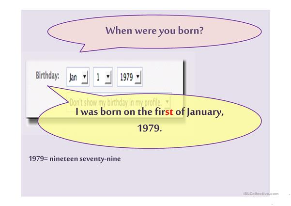 Dates of birth