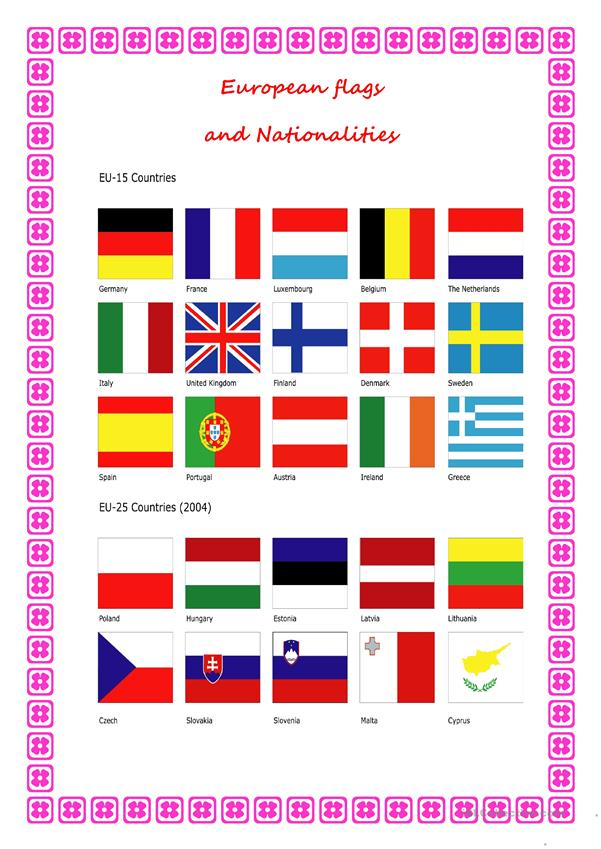FLAGS AND NATIONALITITES