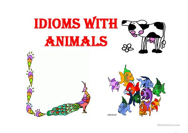 IDIOMS WITH ANIMALS
