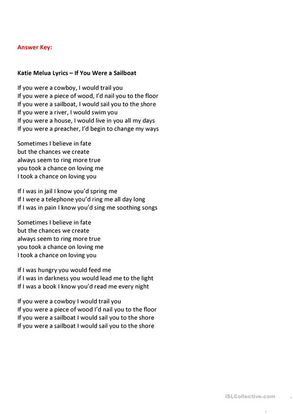 If You Were a Sailboat - Katie Melua