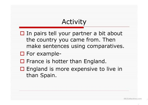 Intro to comparatives