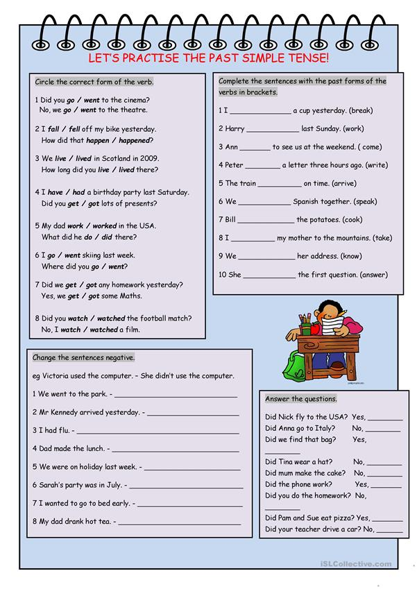 Let's Practise the Past Simple Tense!