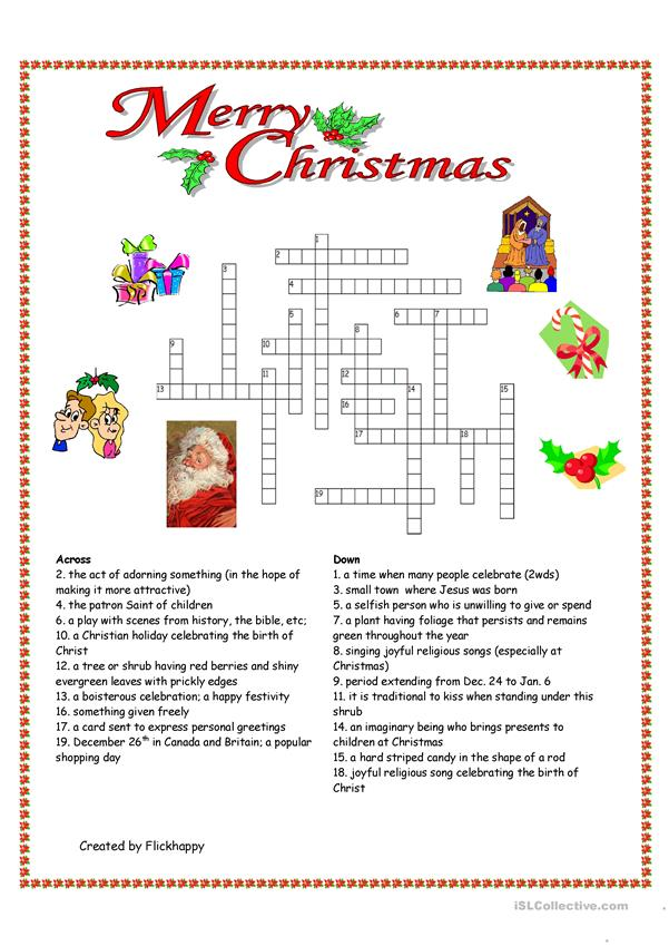 Merry Christmas Crossword