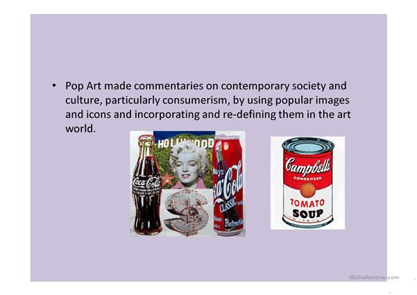 power point about pop art