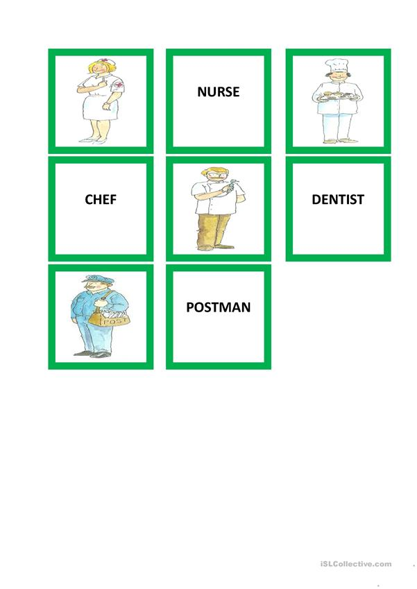 professions memory game