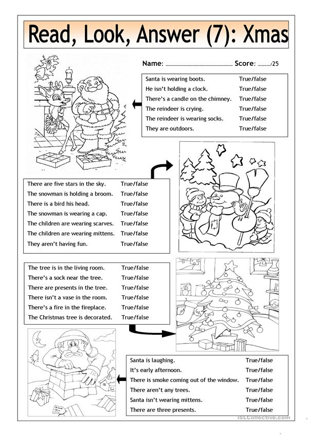 Read - Look - Answer (7) - Xmas Pictures