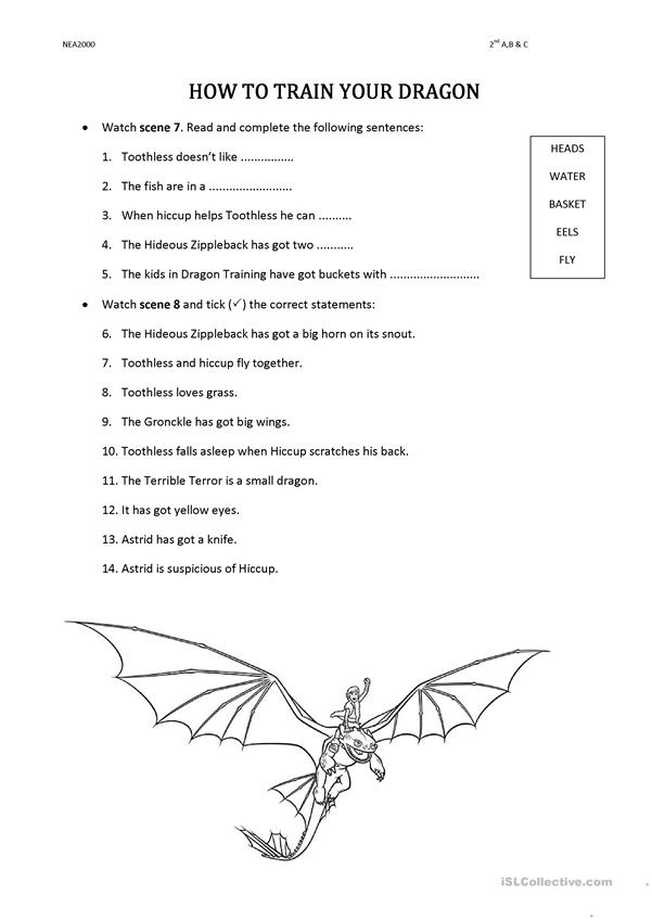 Videosheets How to train your dragon