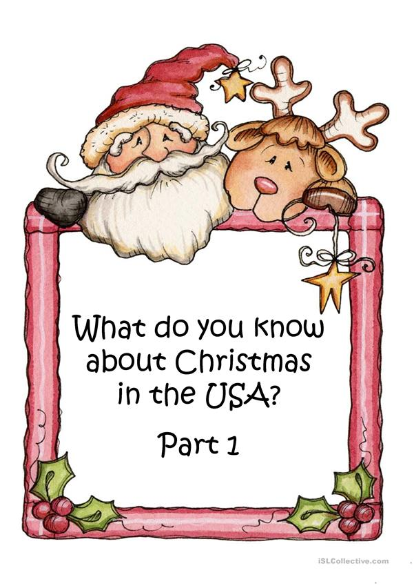 What do you know about Christmas in the USA Part 1