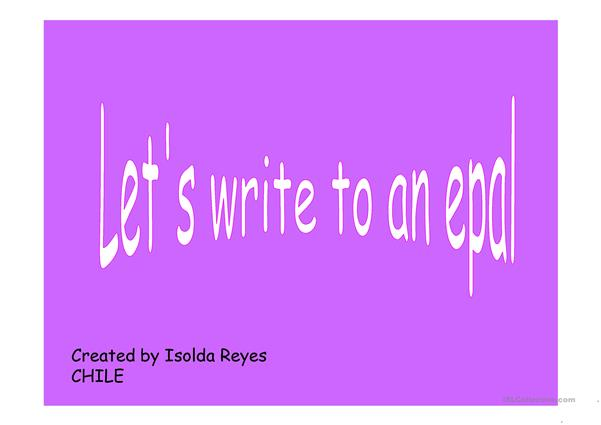Writing an email to an epal