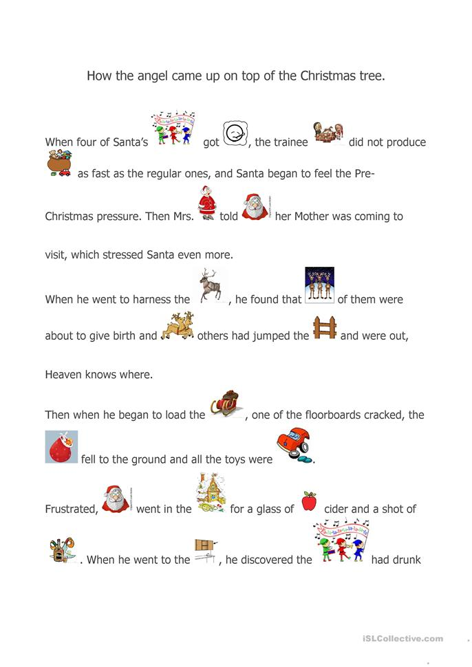 Printables Story Worksheets 141 free esl stories worksheets a christmas story