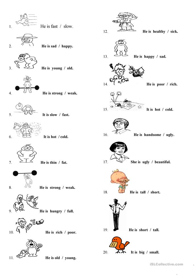 Persnickety image pertaining to adjectives printable worksheets