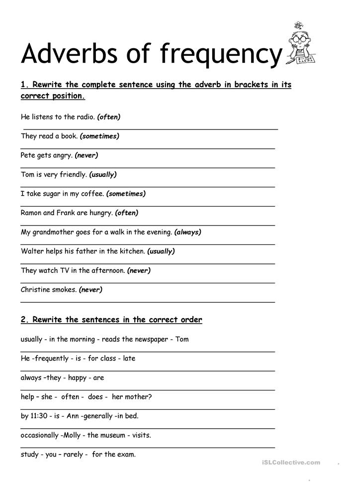 adverbs of frequency worksheet - Free ESL printable worksheets ...