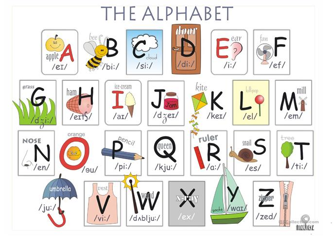 Alphabet - ESL worksheets