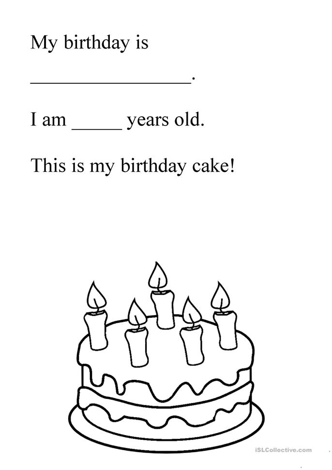 birthday cake worksheet free esl printable worksheets made by teachers. Black Bedroom Furniture Sets. Home Design Ideas