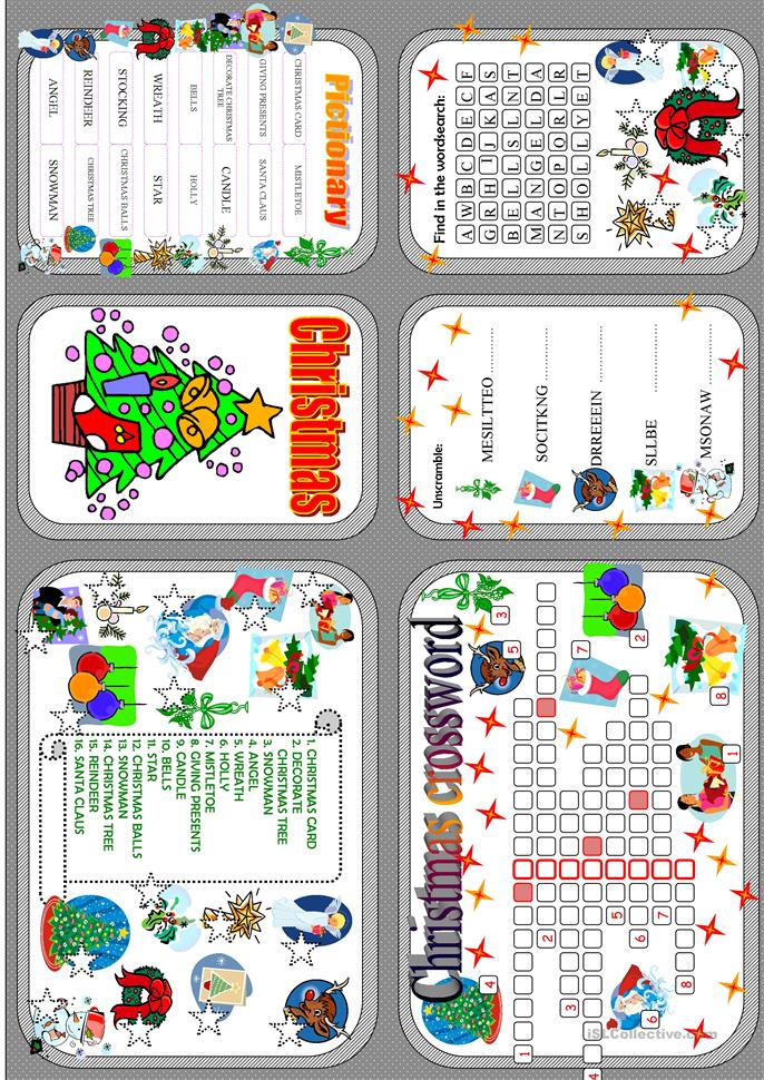 Christmas minibook - ESL worksheets