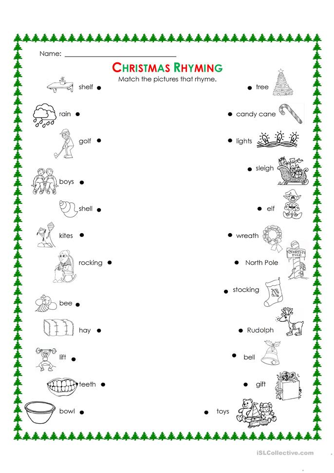 Worksheets Free Printable Rhyming Worksheets 33 free esl rhyming worksheets christmas rhyming