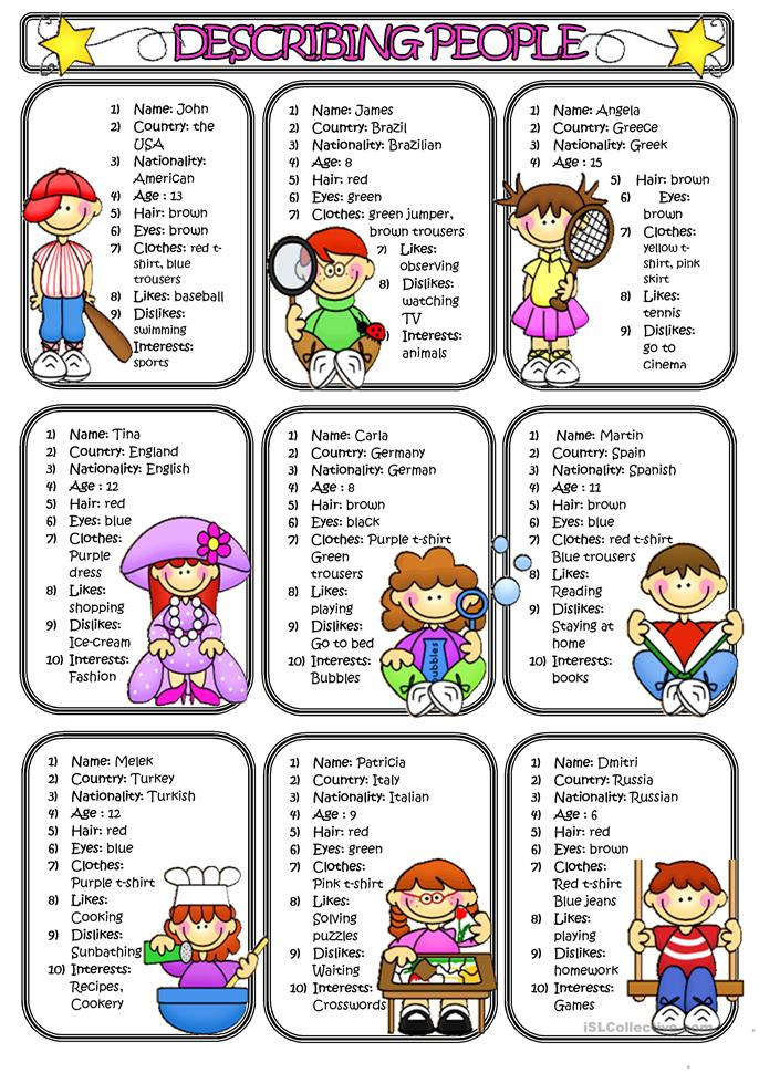 Describing people - 2 - ESL worksheets