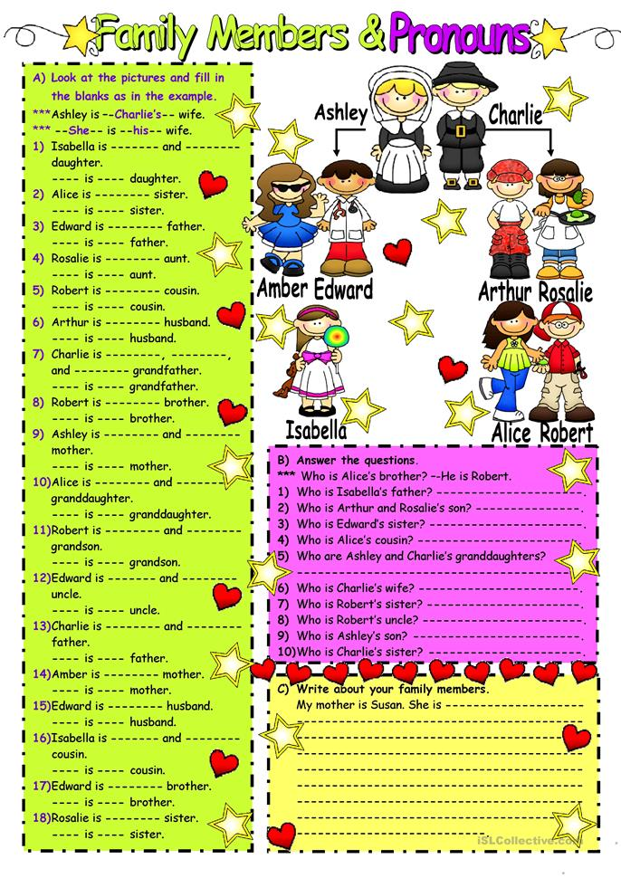 Family Members - ESL worksheets
