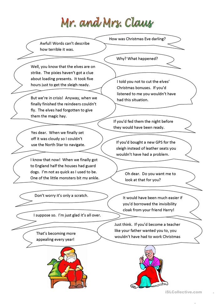 I told you so! Christmas Plays - ESL worksheets