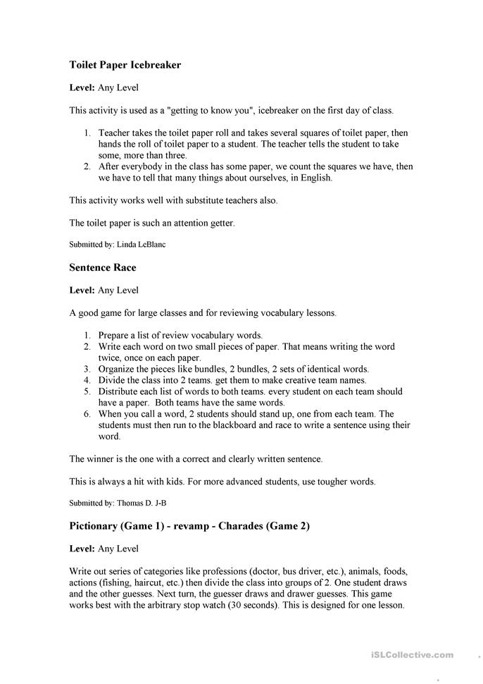 Printables Ice Breaker Worksheets 42 free esl icebreaker worksheets icebreakers