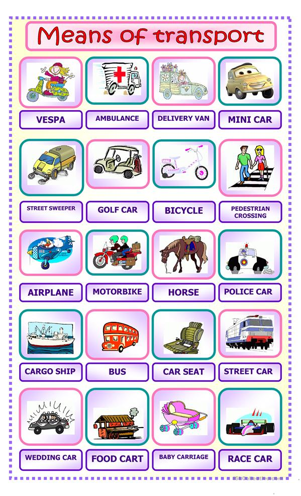 Common Worksheets » Paragraph On Means Of Transport - Preschool ...