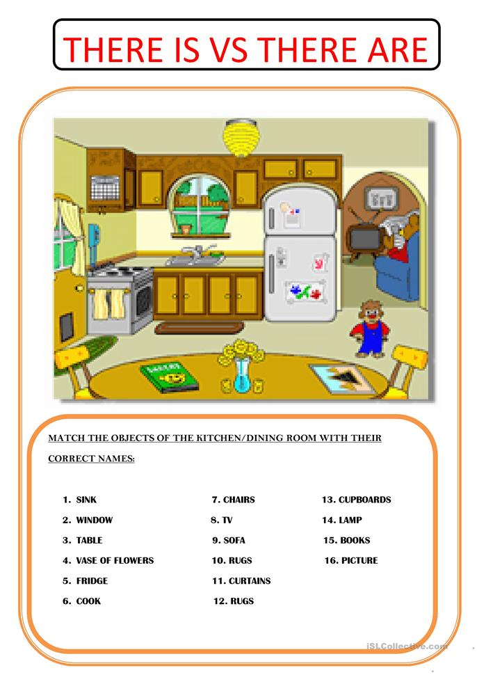 THERE IS VS THERE ARE - ESL worksheets