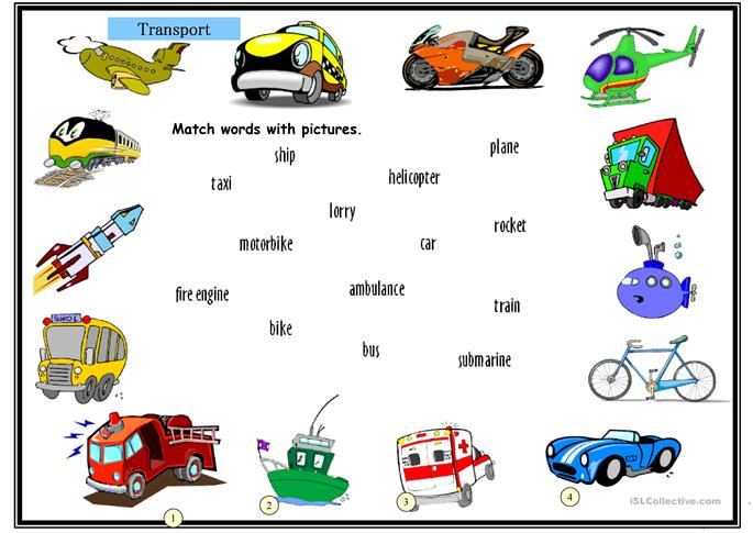 Means Of Transport Lesson For Class 3
