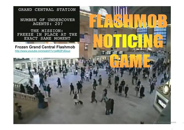 Frozen Grand Central Flashmob - Noticing Game Solutions