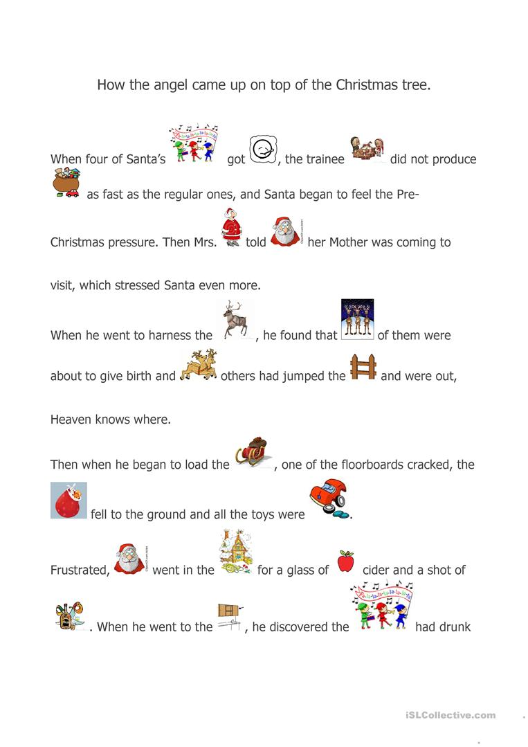 Worksheets Short Stories Worksheets 20 free esl short stories worksheets a christmas story