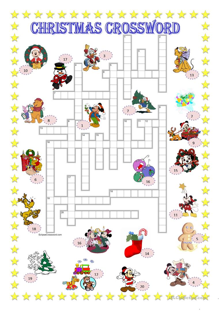 Worksheets Disney Worksheets 49 free esl disney worksheets christmas crossword key