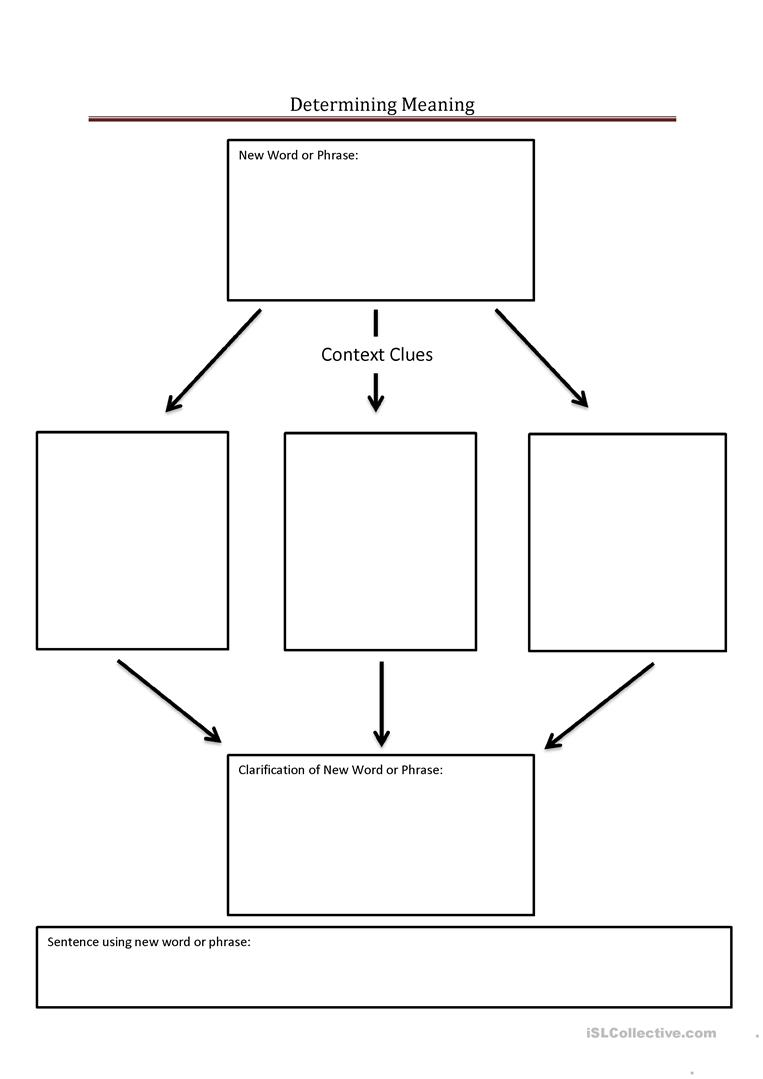 Determining Word Meaning Graphic Organizer English Esl Worksheets For Distance Learning And Physical Classrooms