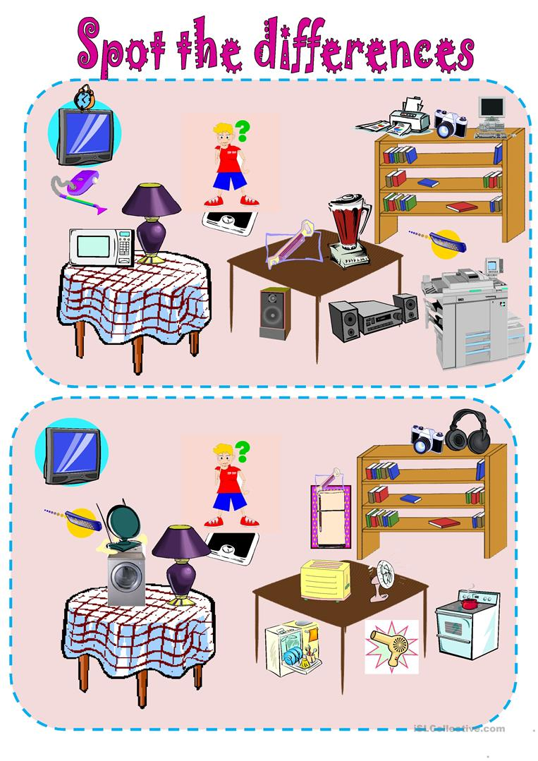 Spot The Differences Simple Machines And Gadgets