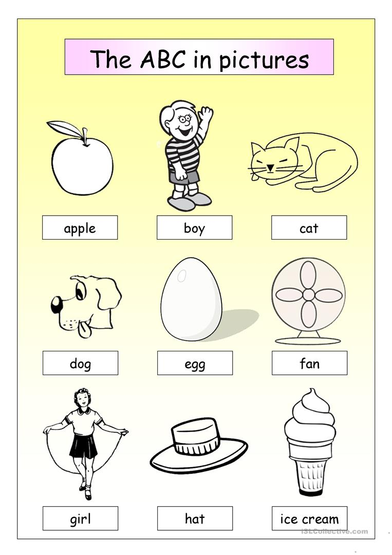 - The ABC In Pictures - English ESL Worksheets For Distance Learning