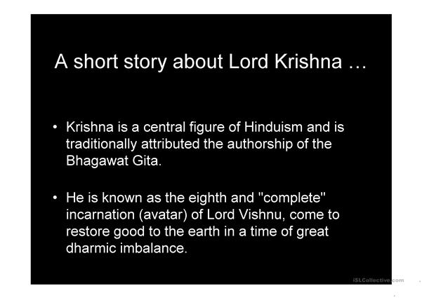 A short story of Lord Krishna