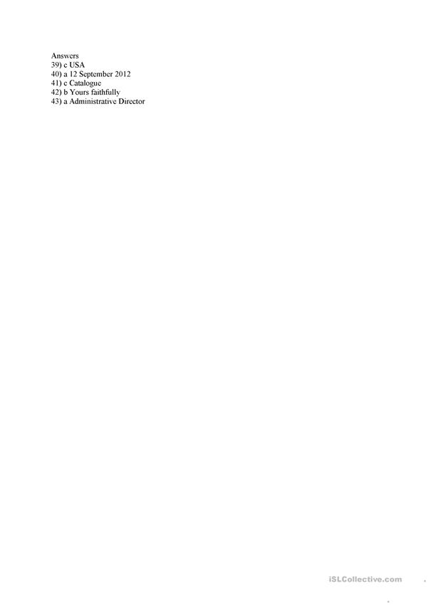 business letter worksheet
