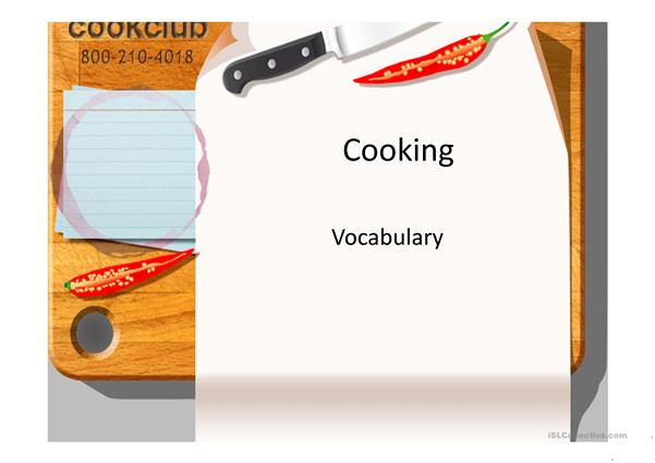 Cooking Presentation