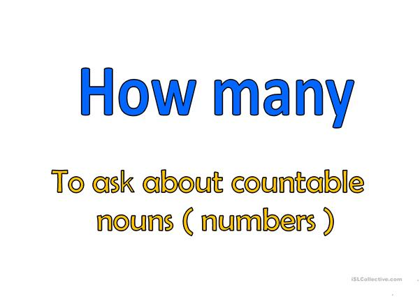 How many - How much