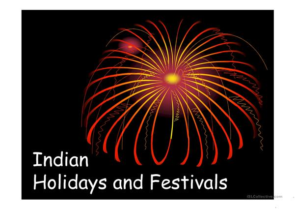 Indian festivals and hoildays