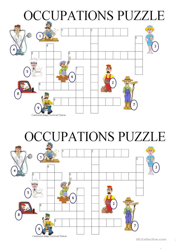 Occupations puzzle