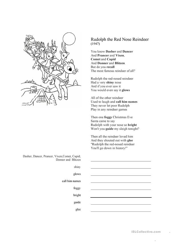 Rudolph the Red-Nosed Reindeer song lyrics