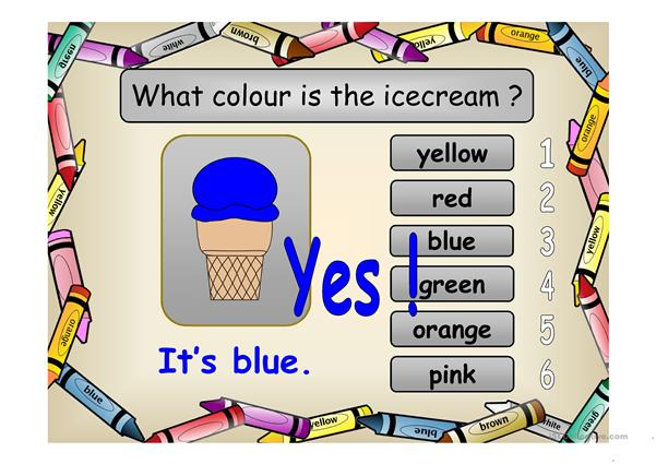 What Colour is My Icecream?