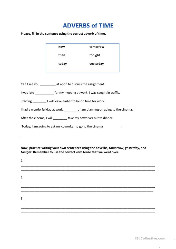 ... of Time worksheet - Free ESL printable worksheets made by teachers