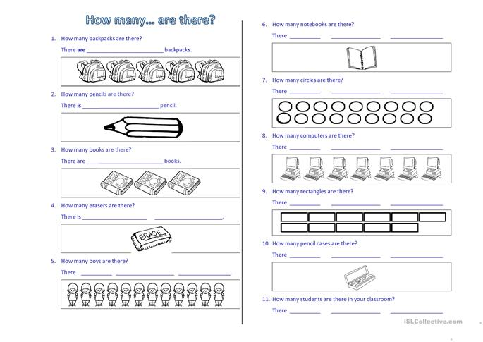 How many... are there? - ESL worksheets