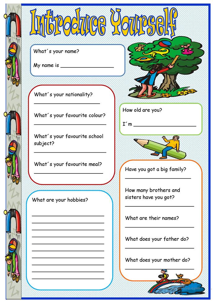 Introduce Yourself Worksheet