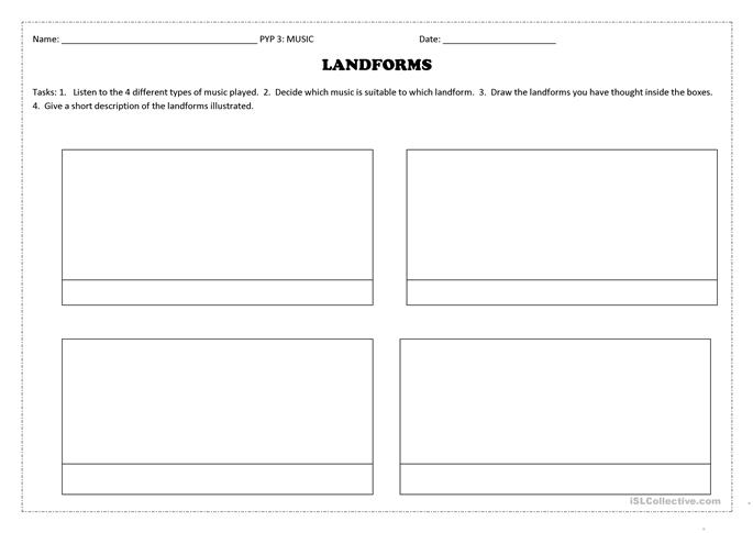 5 FREE ESL landforms worksheets – Landforms Worksheet