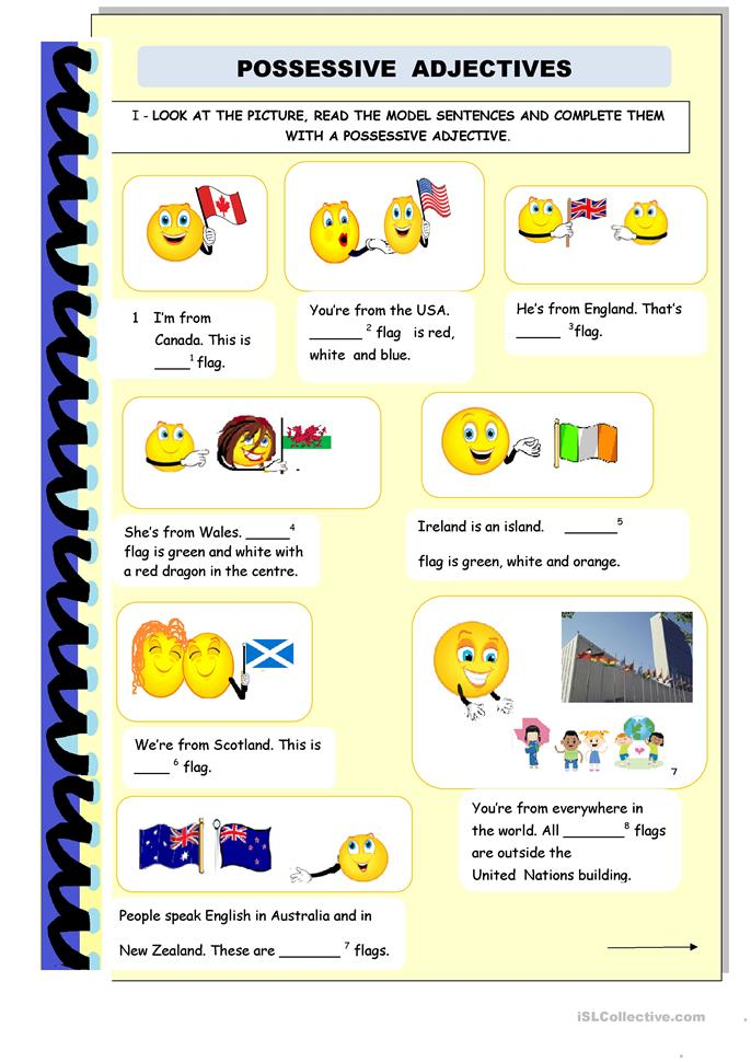 Possessive Adjectives and Genitive Case worksheet - Free ...