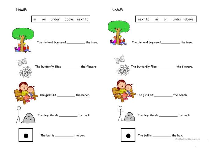 Preposition Quiz - ESL worksheets