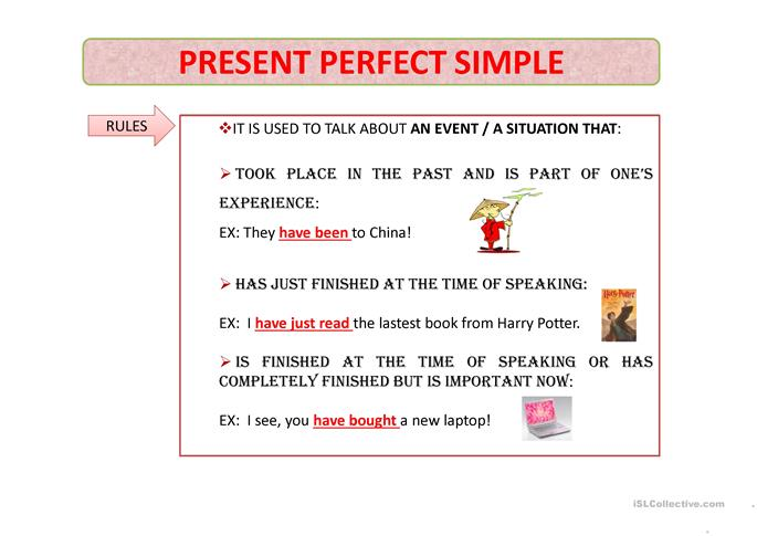 Orig further Sem Ttulo together with Present Perfect Tensesincefor together with Present Perfect Past Simple Used To furthermore Past Simple Present Perfectt. on past vs present worksheets