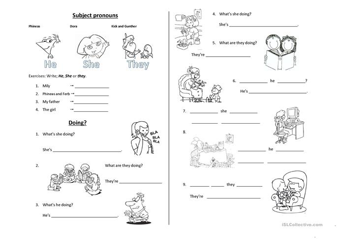 93 FREE ESL present progressive worksheets – Present Progressive Worksheets